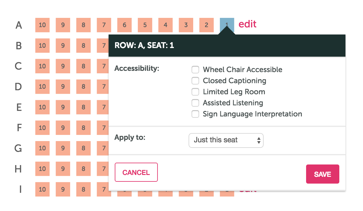 how to create a theater style seating chart ticketleap