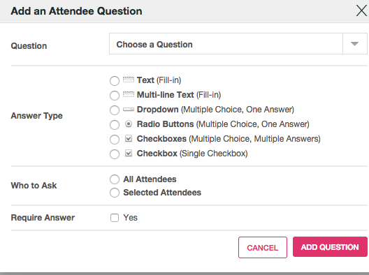 how do i add registration form questions to my events ticketleap