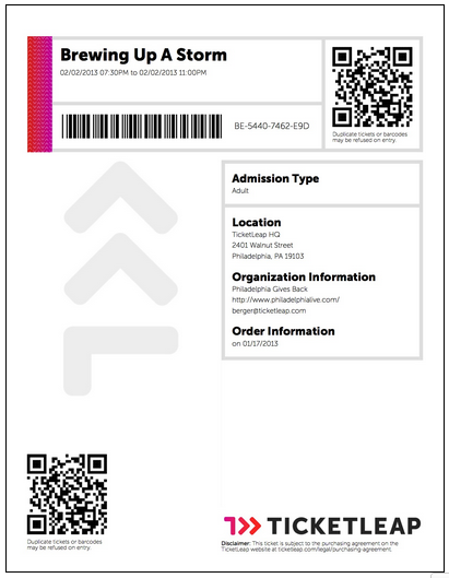 What does a Barcode Ticket look like Ticketleap – Tickets Format