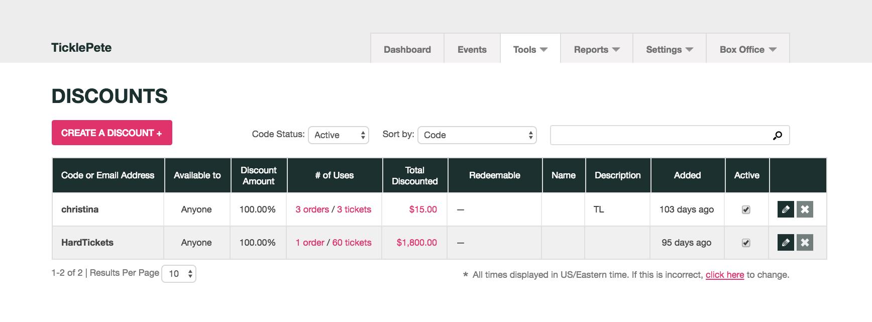 How do i set up individual discount codes ticketleap - Houseplanscom discount code set ...