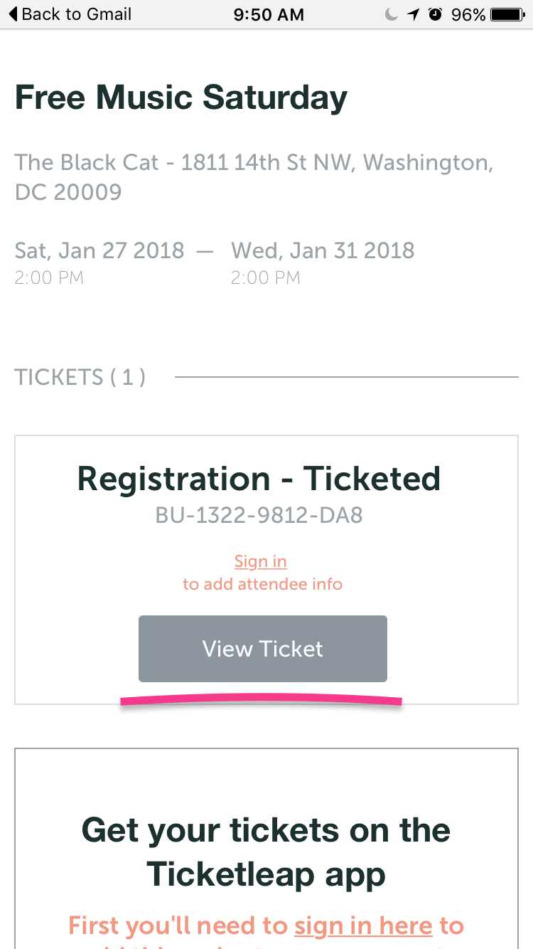 How do I send tickets to my Wallet? – Ticketleap